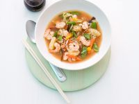 Shrimp, Vegetable and Rice Soup recipe