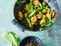Shrimp with Green Vegetables recipe