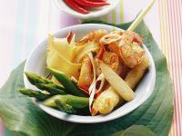 Shrimp with Lemongrass and Green Asparagus recipe