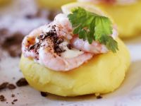 Shrimp with Mashed Potatoes recipe
