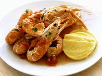 Shrimp with Polenta and Tomato Sauce recipe