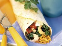 Shrimp Wrap with Rice and Salsa recipe