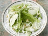 Simple Apple and Green Leaf Plate recipe