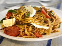 Simple Pasta with Soft Cheese and Chopped Tomato recipe