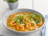 Singapore-Style Soup with Shrimp and Noodles recipe