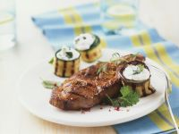 Sirloin Steak with Zucchini Rolls recipe