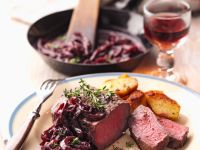 Sirloin Steaks with Red Wine Onions recipe