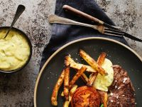Sirloin with Chips and Butter Sauce recipe