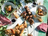 Skewers and Grilled Quail recipe