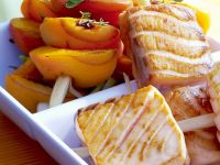 Skewers with Apricot and Grilled Salmon recipe