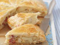 Slice of Savoury Flakey Pie recipe