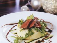 Sliced Beef over Pomme Puree recipe