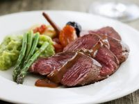 Sliced Beef with Chocolate Sauce recipe