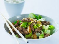 Sliced ​​beef with Leeks recipe