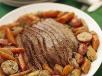 Sliced Brisket with Vegetables recipe