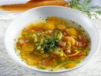 Sliced Carrot and Pumpkin Broth recipe