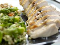 Sliced Chicken with Bulgur recipe