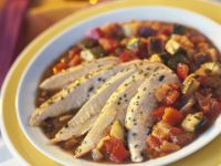 Sliced Chicken with Rustic Veg