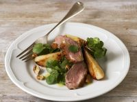 Sliced Duck and Pear Salad recipe