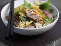 Sliced Duck and Veggie Bowl recipe