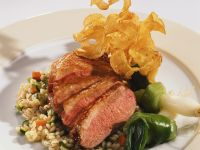 Sliced Duck with Barley recipe