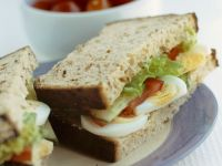 Sliced Egg Salad Sandwich recipe