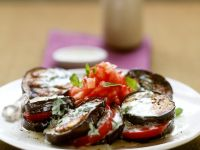 Sliced Eggplant Salad with Dressing recipe