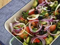 Sliced Mediterranean-style Salad recipe