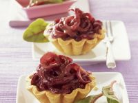 Sliced Onion Tartlets recipe