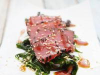 Sliced Tuna Steak with Sesame Seeds recipe