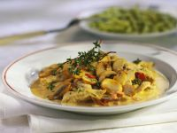 Sliced veal with Mushrooms, Pancetta and Thyme recipe