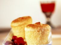 Small Ginger Semolina Souffles with Spiced Cranberries