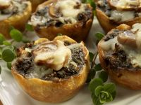 Cheesy Mushroom Cups recipe