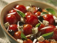 Small Tomato and Greek Cheese Bowl recipe
