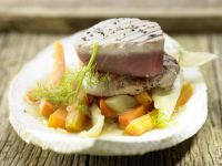 Small Veal Loin and Tuna Fillets recipe
