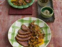 Smoked Duck Breasts with Lentil Salad recipe