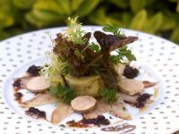 Smoked Eel with Foie Gras and Salad