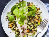 Smoked Fish Fillet with Pulses recipe