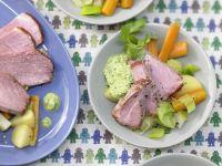 Smoked Ham with Parsley-Almond Sauce recipe