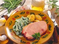 Smoked Pork Chop with Creamy Green Beans recipe