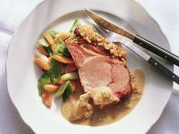 Smoked Pork Chop with Pine Nut Crust recipe