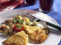 Smoked Pork in Cheese Sauce with Potato Pancakes recipe