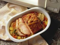 Smoked Pork Loin with Potatoes and Peppers recipe