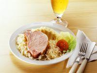 Smoked Pork with Sauerkraut and Mashed Potatoes recipe