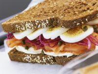 Egg and Fish Rye Sandwich recipe