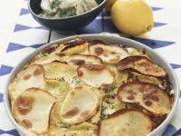 Smoked Salmon and Potato Bake recipe