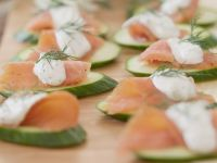 Smoked Salmon & Cucumber Appetizer recipe