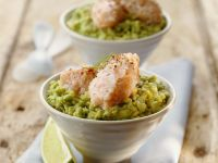 Smoked Salmon Mousse with Guacamole recipe