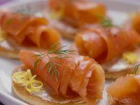 Smoked Salmon on Blinis recipe