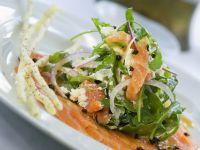Smoked Salmon with Arugula Salad recipe